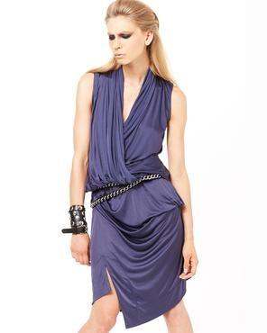 VIVIENNE WESTWOOD RED LABEL Blue Draped Dress
