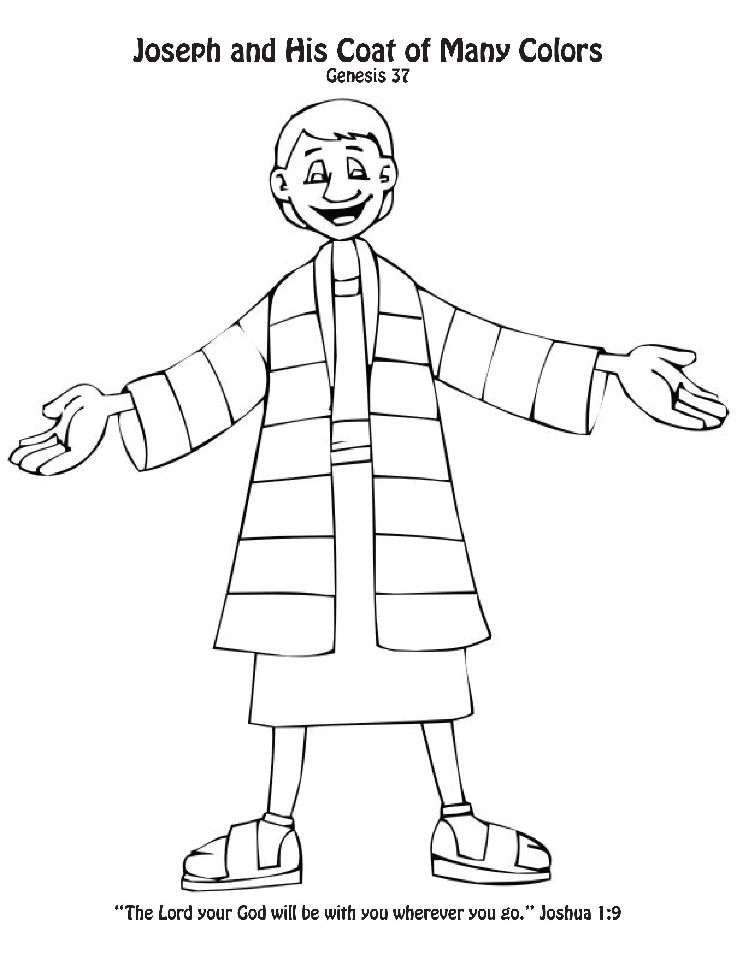 Joseph's coat of many colors craft/coloring page. Toddlers