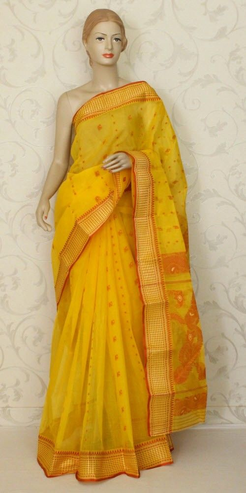 a55a9c6de0 Bengal Handloom Tant Saree (Cotton) 12007 , Buy Traditional Tant Sarees  online, Pure