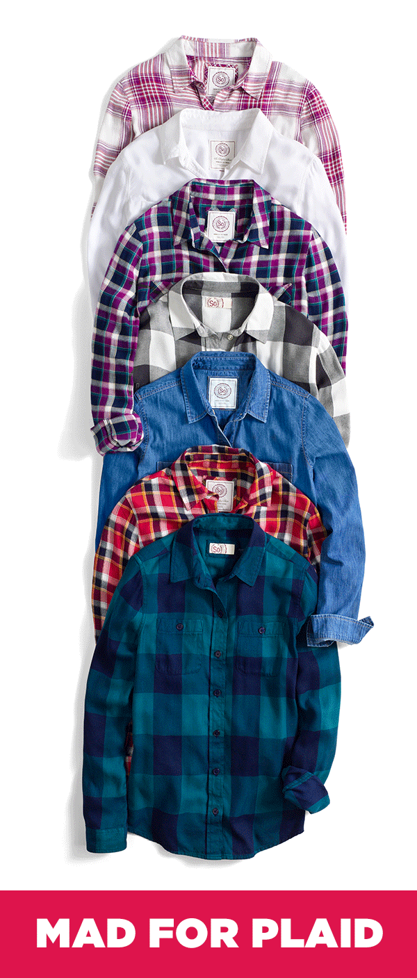 Flannel shirts at kohl's  What are you going to wear on the first flannel Friday of the new