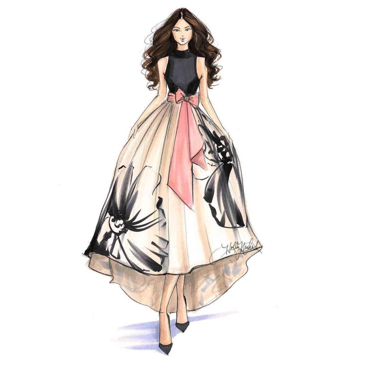Featuring Hnicholsillustration Anthropologie Mzmanerz Fashionillus Fashion Illustration Fashion Illustration Dresses Fashion Illustration Sketches Dresses Fashion designing sketches of models