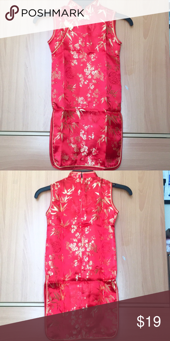 1acb6720a20b Little girl 6yo hot red Chinese dress Brand new. The lines were from  folding. Easily to iron out. Can be wear as dress or with tights/ leggings  Dresses