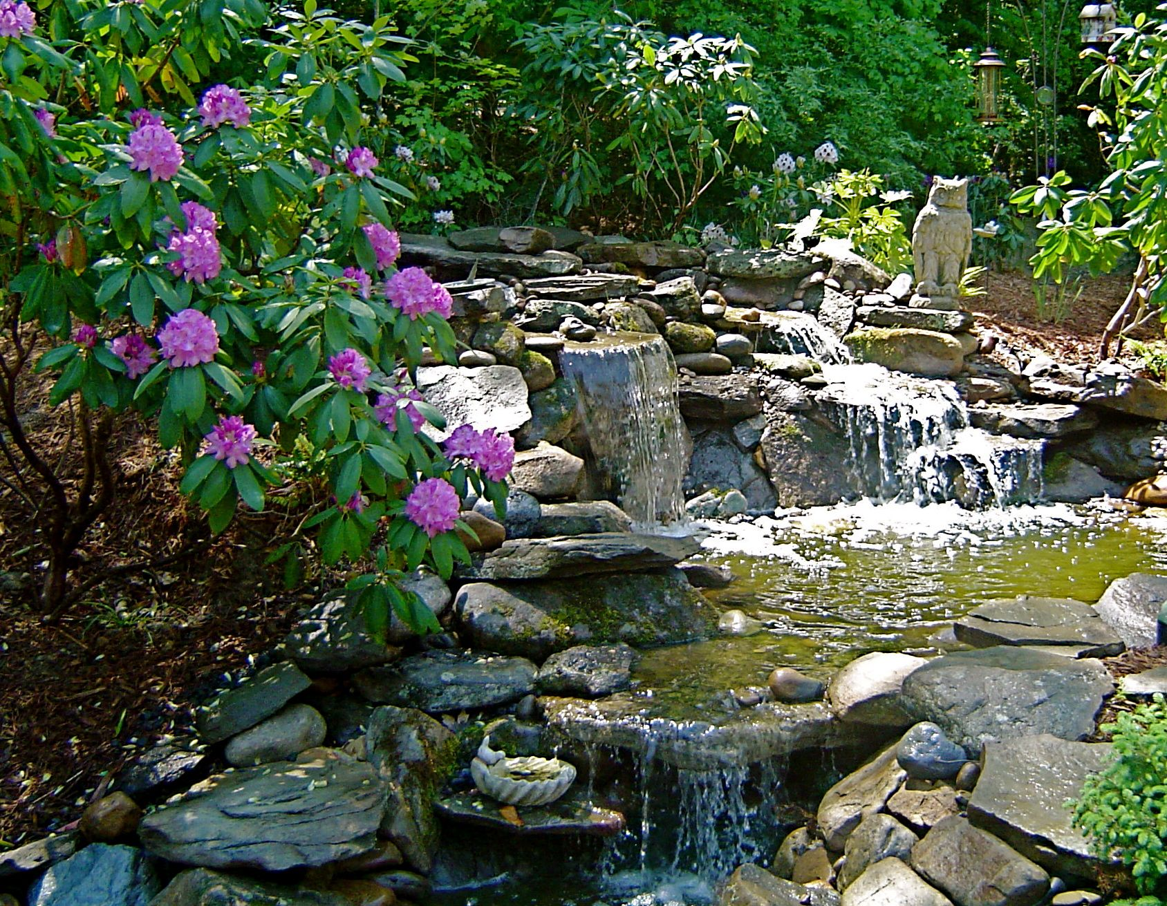 Professional Design Water Features Waterfalls Streams And More By All Natural Streams Landscaping Landscape Design Landscape Features Backyard Landscaping