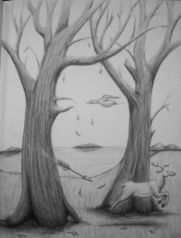 hidden face illusions optical illusion faces drawing tree retouched deviantart drawings visit yup explore portrait visual