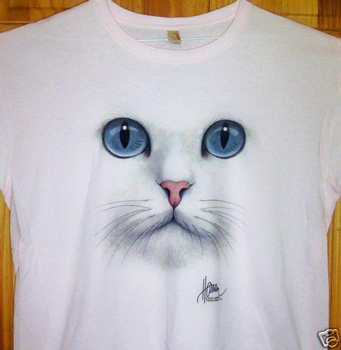 """New Ladies Pink T Shirt """" CAT EYES """" Sz SM - 2XL  http://www.ebay.de/itm/270487353275?var=570000692522=STRK:MEWAX:IT&_trksid=p3984.m1423.l2649"""