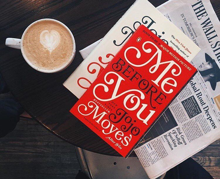 """""""You make into someone I couldn't even imagine.""""  #MeBeforeYou reading our favorite love story this Valentine's Day!"""