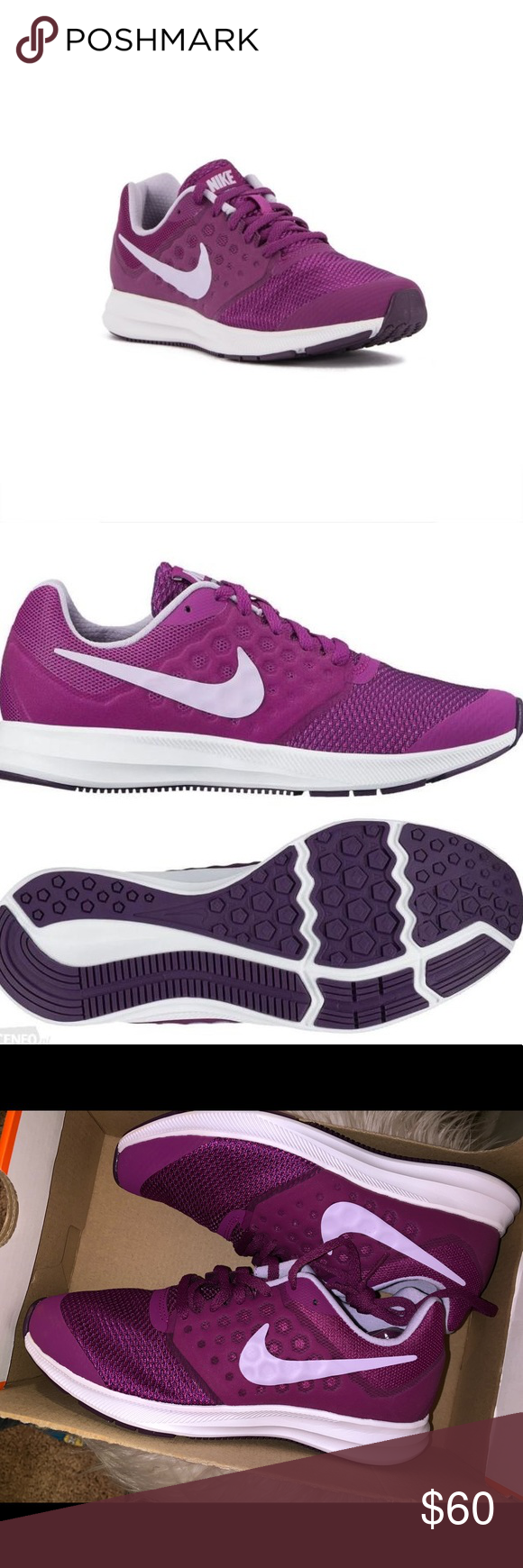 f754b8ebd1 Nike Downshifter 7 (gs) - 4 1/2 Kids 6 1/2 Women Nike Downshifter 7 (gs)  Youth Girls Athlethic Running Casual Shoes 4 1/2 youth or 6 1/2 women Nike  Shoes ...