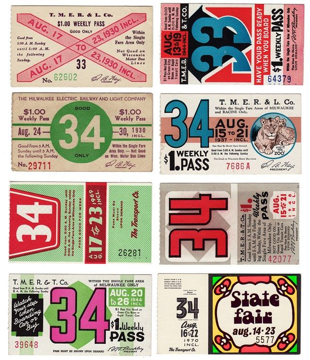Vintage Weekly Bus Passes With Images Ticket Design Retro Packaging Bus Pass
