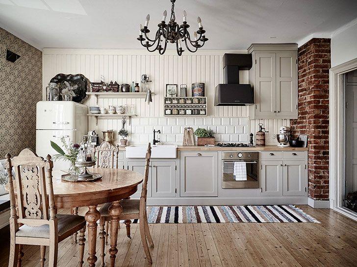 Scandinavian Vintage Interior Home Kitchens Vintage Kitchen