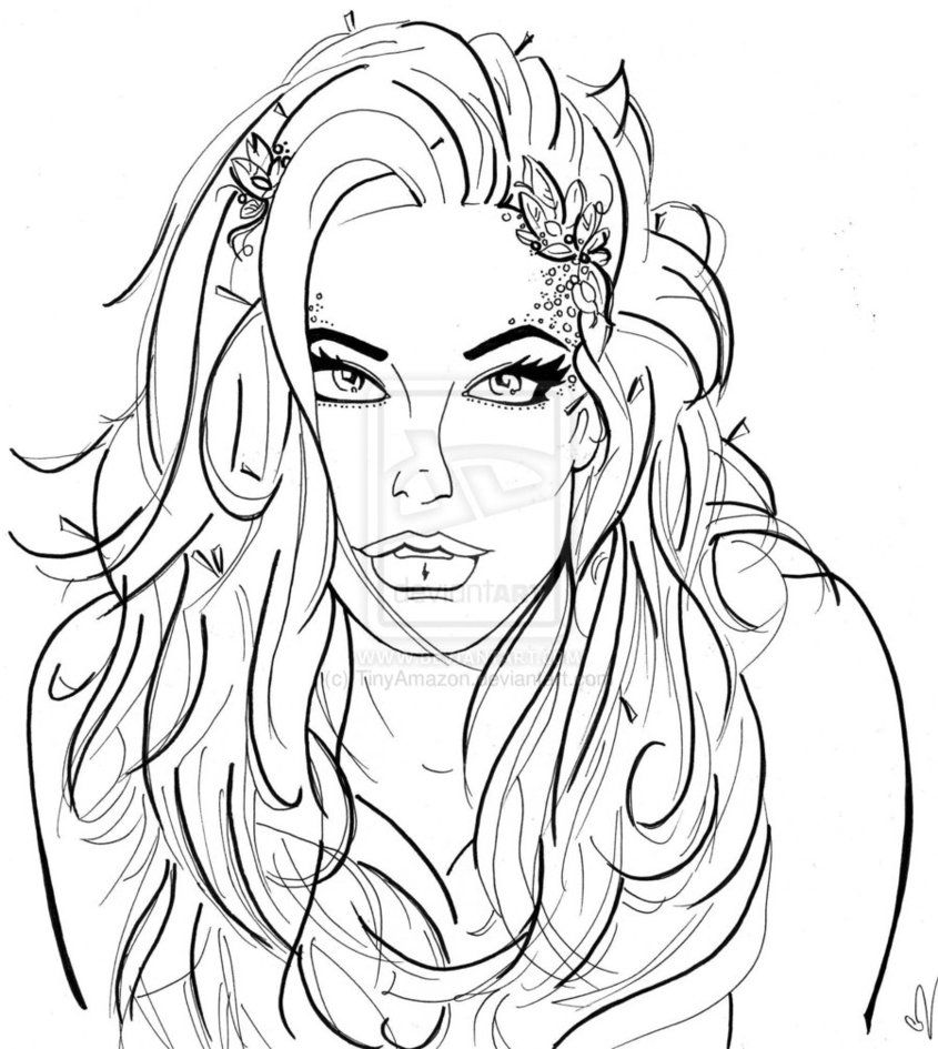Princess ivy coloring page - Poison Ivy Coloring Pages Adult Deviantart More Like Poision Ivy Iv By Kai