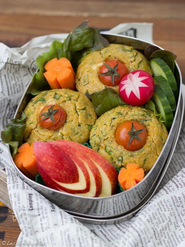 polenta spinat muffins mit schafsk sef llung und tomatenm tzchen mittagsbox pinterest. Black Bedroom Furniture Sets. Home Design Ideas