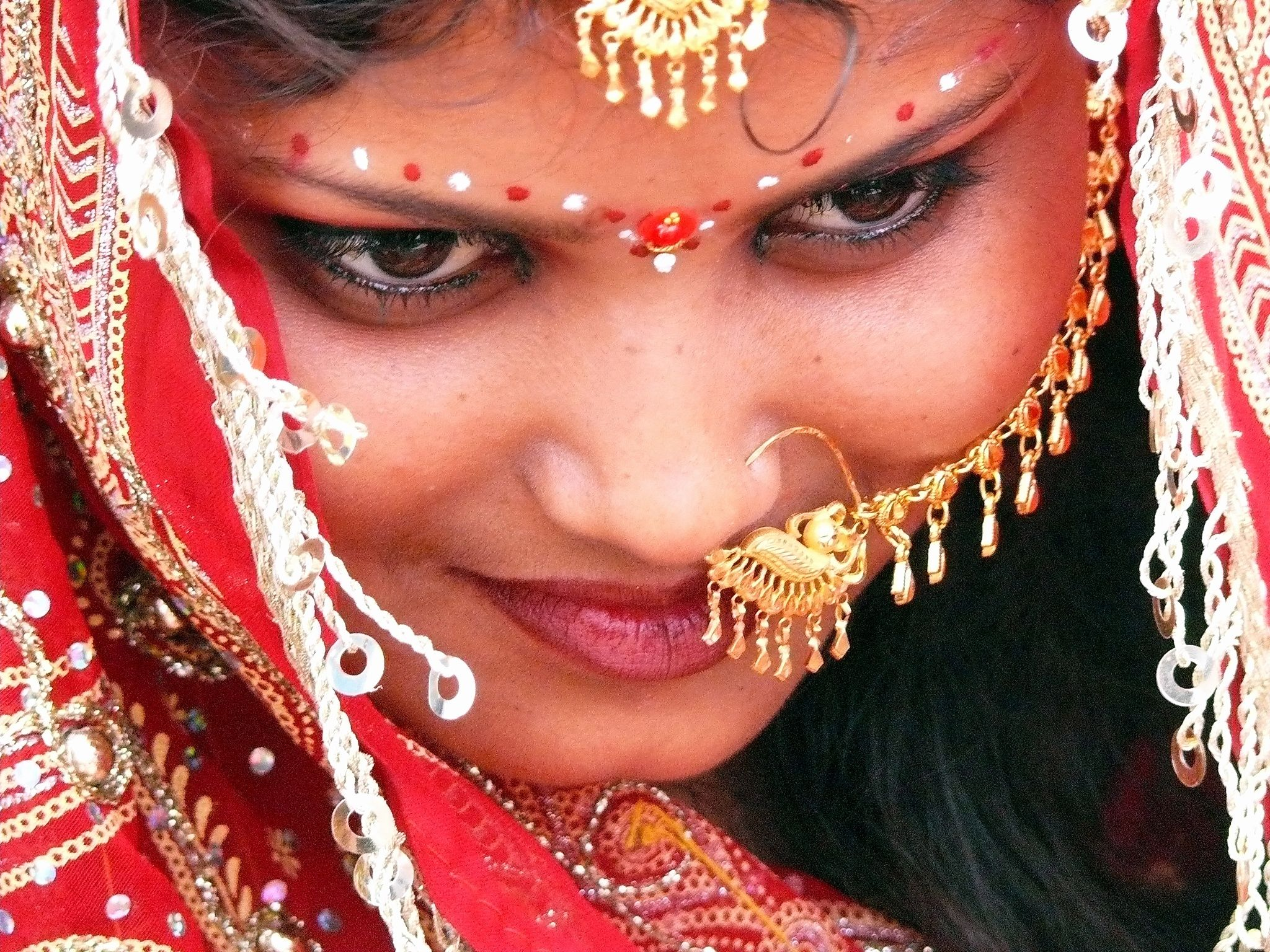 India - Rajasthani woman dressed to marry