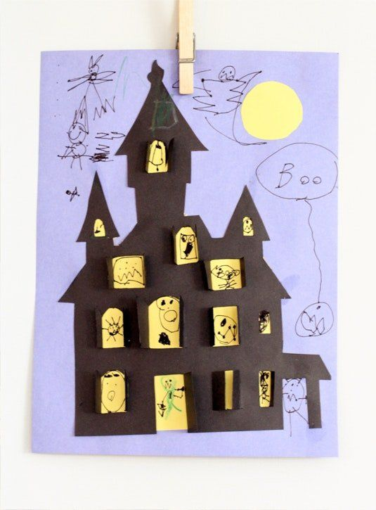 13 Fun, DIY Halloween Crafts for Kids Kid friendly art, Fun diy - homemade halloween decorations kids