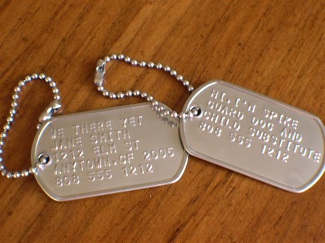 dog tags silver and gray pinterest gray
