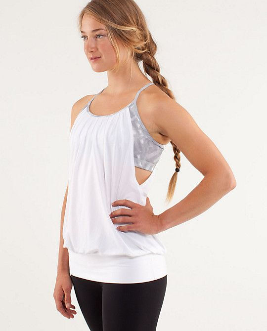 Fitness Junkie Gloves: Lululemon No Limits Tank. I Scored This Top In Grey At The