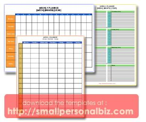 Free Editable And Colorful Templates Weekly Planner Agenda In Word
