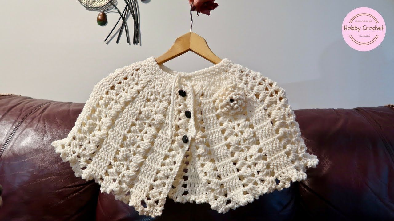 Capa a crochet fácil paso a paso (Versión diestra) | abue Encarna ...