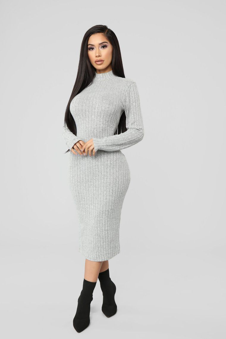 bd32f0d9b0c Not Over You Yet Sweater Dress - Heather Grey in 2019 | •FashionNova ...