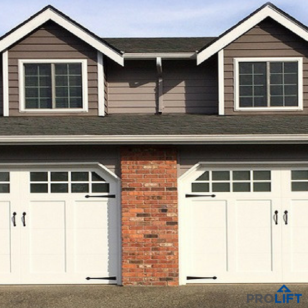 This will be brief. White garage doors, Garage doors