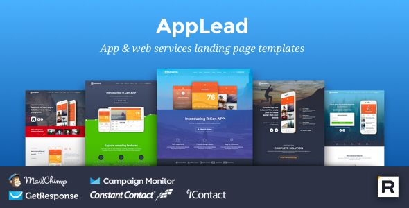 AppLead - App Landing Pages . AppLead – App Landing Pages is collection of app marketing pages which are perfect suit for showcase your app or services smart and beautiful way. AppLead – App Landing Pages built with Bootstrap. It's include stunning, powerful and unique landing page templates which are perfect to promoting apps