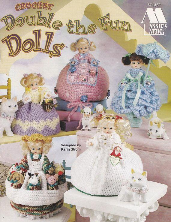 Double the Fun Dolls Annie\'s Attic Crochet Air Freshener | bed dolls ...