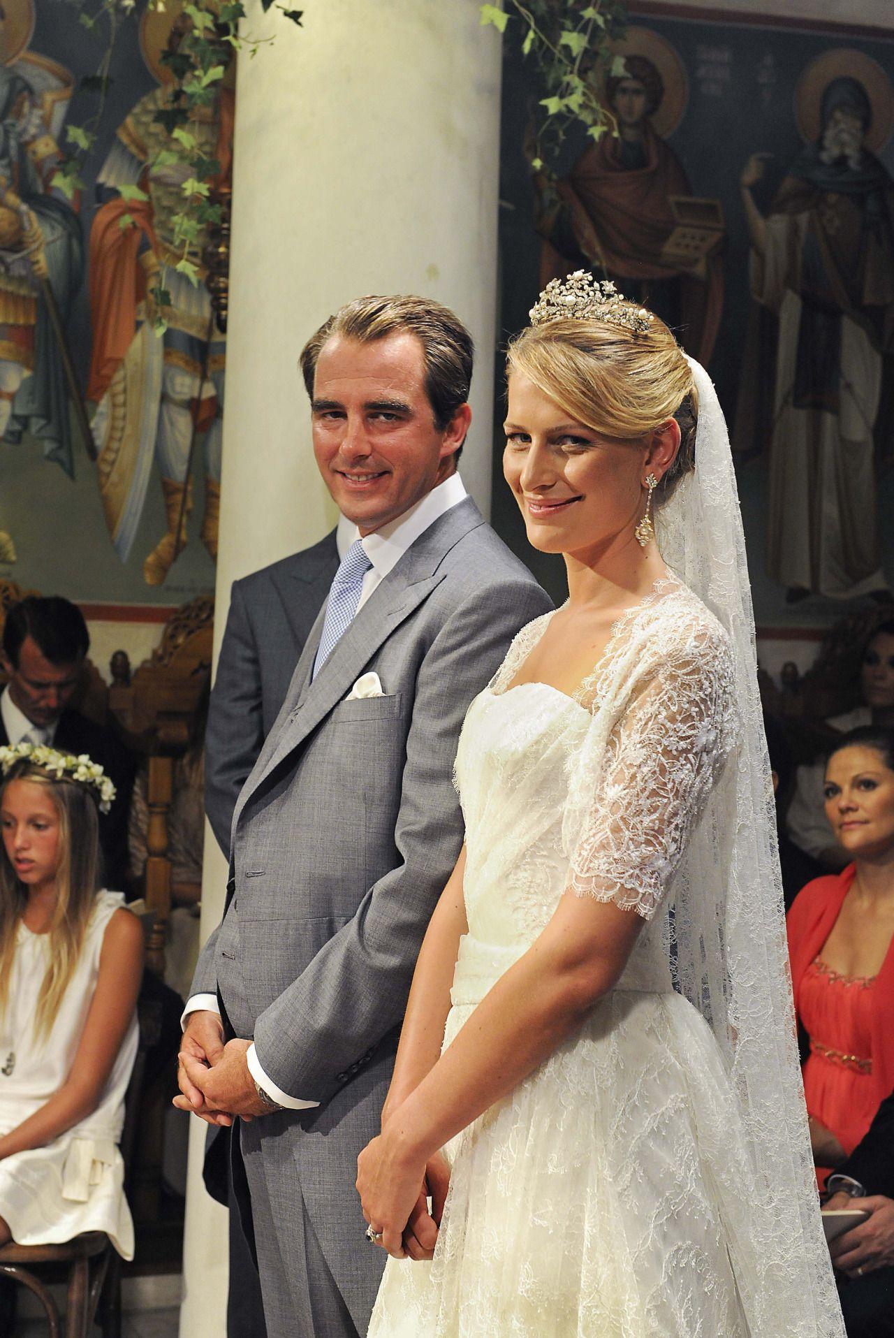Wedding Of Prince Nikolaos Of Greece And Tatiana Blatnick Spetses Greece 25 August 2010 Royal Wedding Gowns Royal Weddings Royal Brides [ 1915 x 1280 Pixel ]