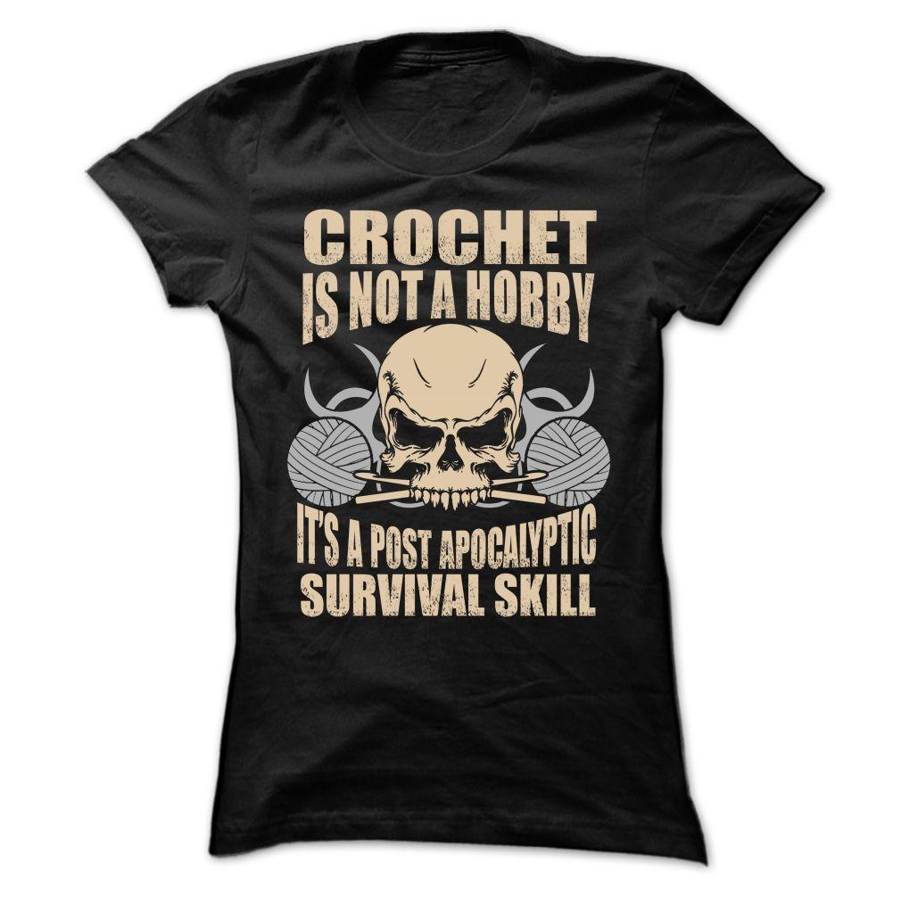 Crochet is not a hobby :) https://www.sunfrog.com/HQTeeHoodie ...