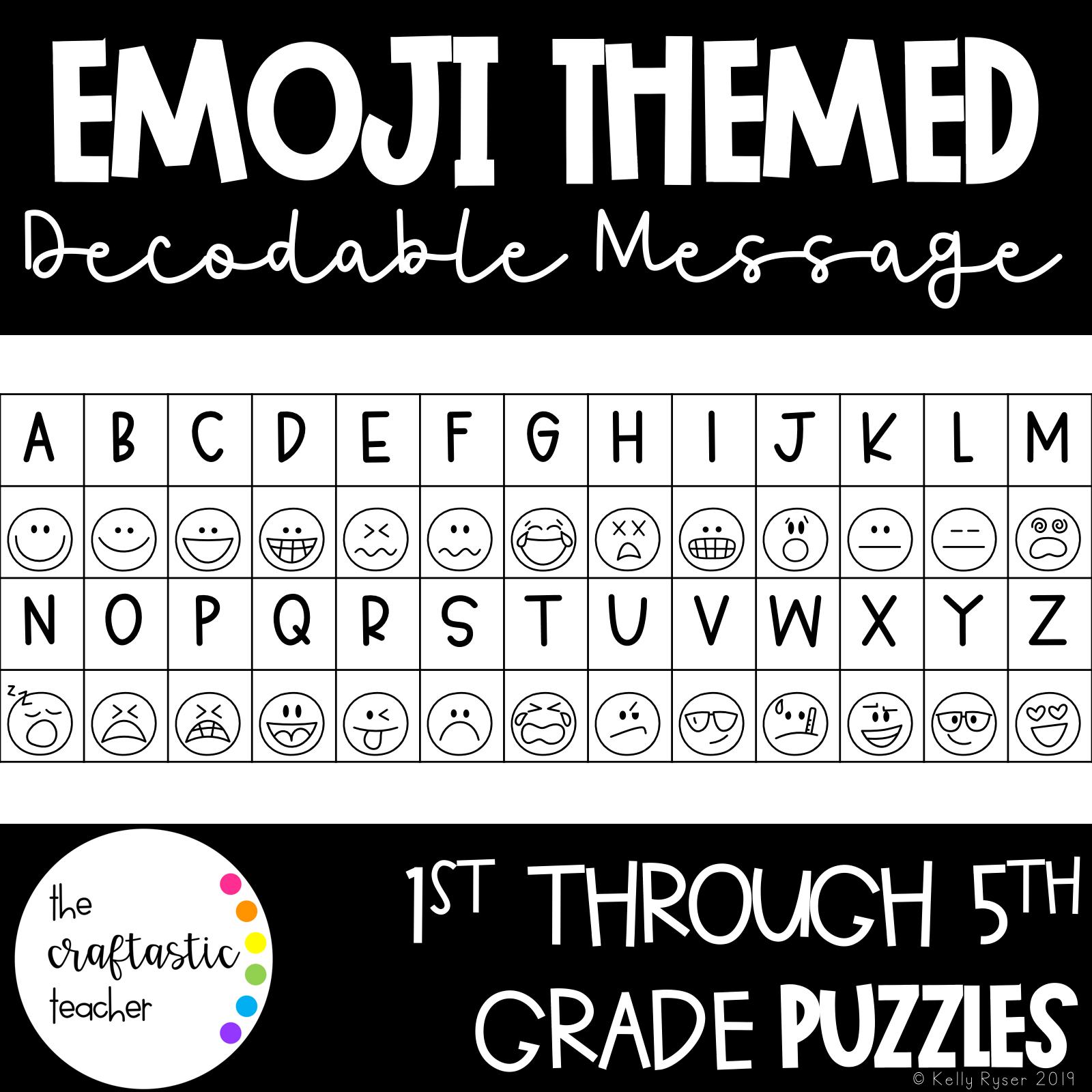 Back To School Emoji Decoding Message
