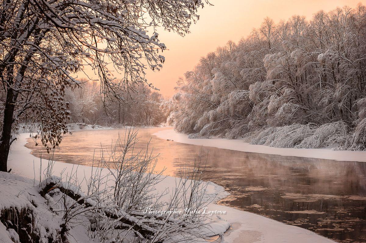 Февраль в пастельных тонах #пейзаж #природа #утро #рассвет ...