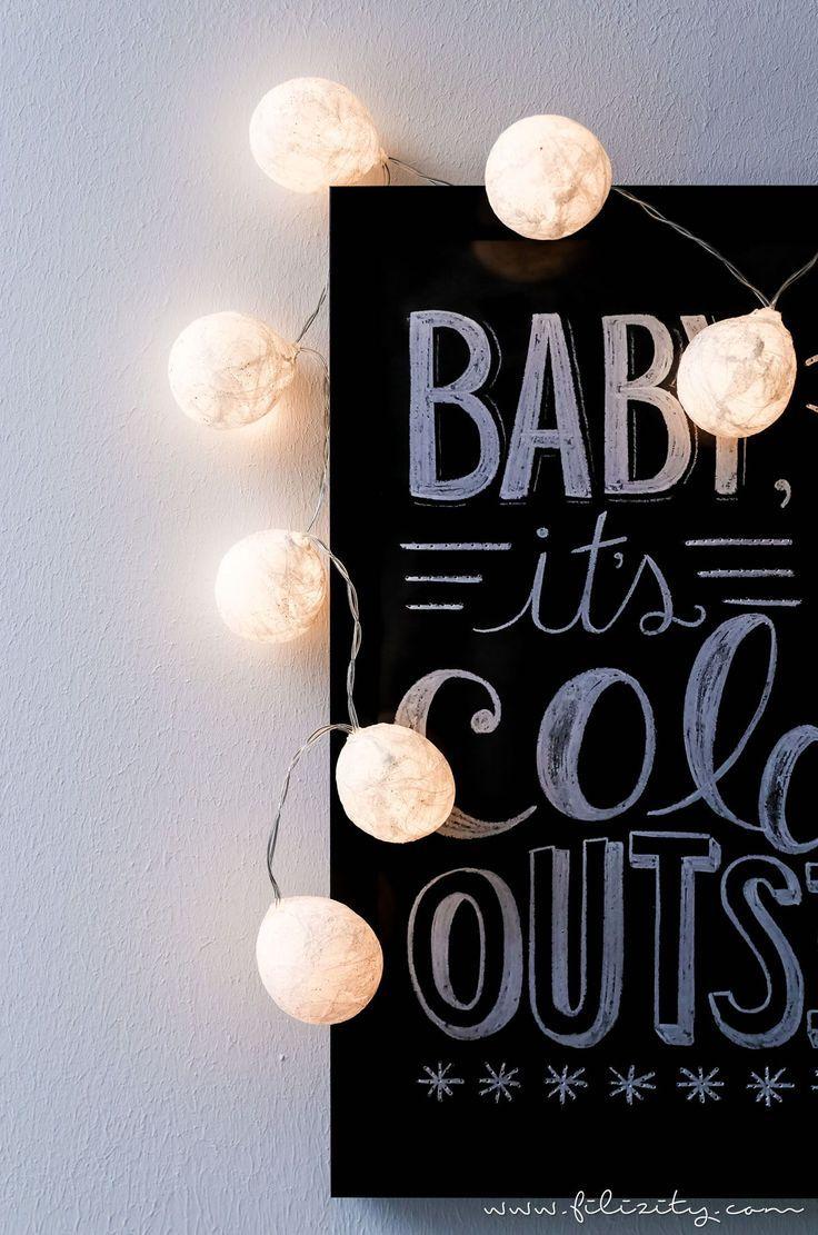 Weihnachtliche Diy2 2 Ideen Mit Taschentüchern 3 weihnachtliche DIYIdeen mit Taschentüchern  Lichterkette mit TaschentuchLampenschirmen   DIYBlog aus dem Rheinl...