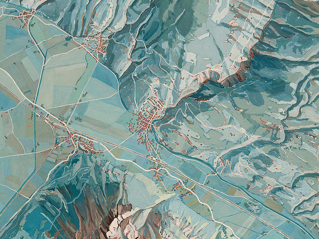 Eduard Imhof, Karte der Gegend um den Walensee, 1938. [Courtesy of Alpines Museum der Schweiz, Bern