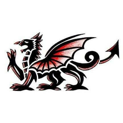 welsh dragon tattoo i scheme pinterest welsh dragon welsh and dragons. Black Bedroom Furniture Sets. Home Design Ideas