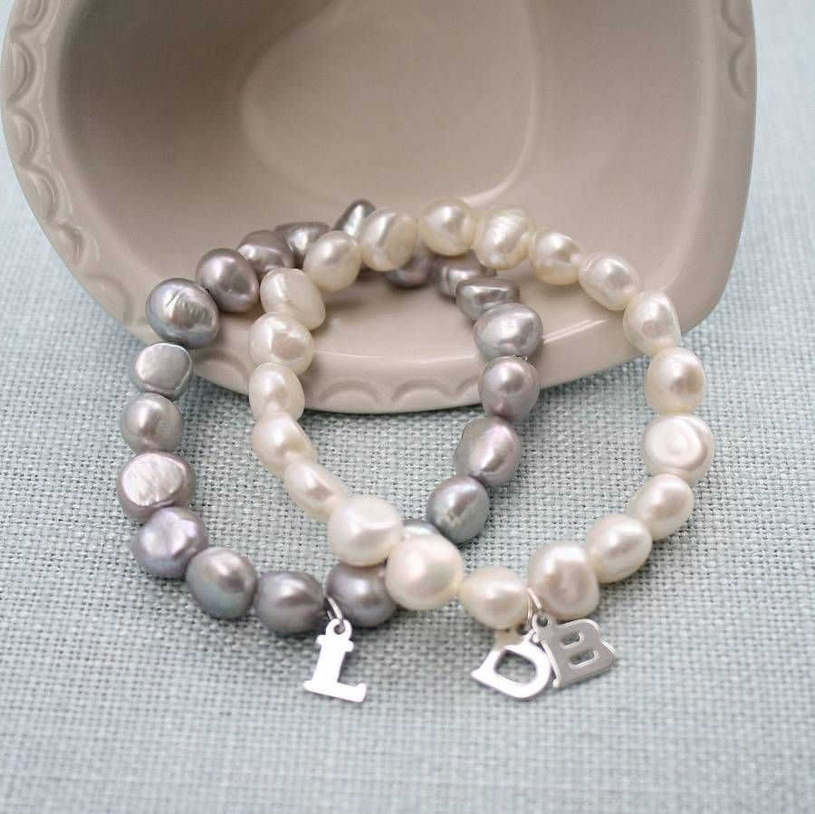 Personalised pearl classic bracelet pearls pearl bracelet and