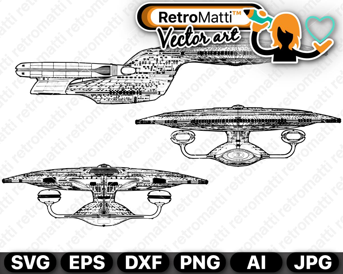 Enterprise D SVG Svg, Lettering alphabet, Vector artwork