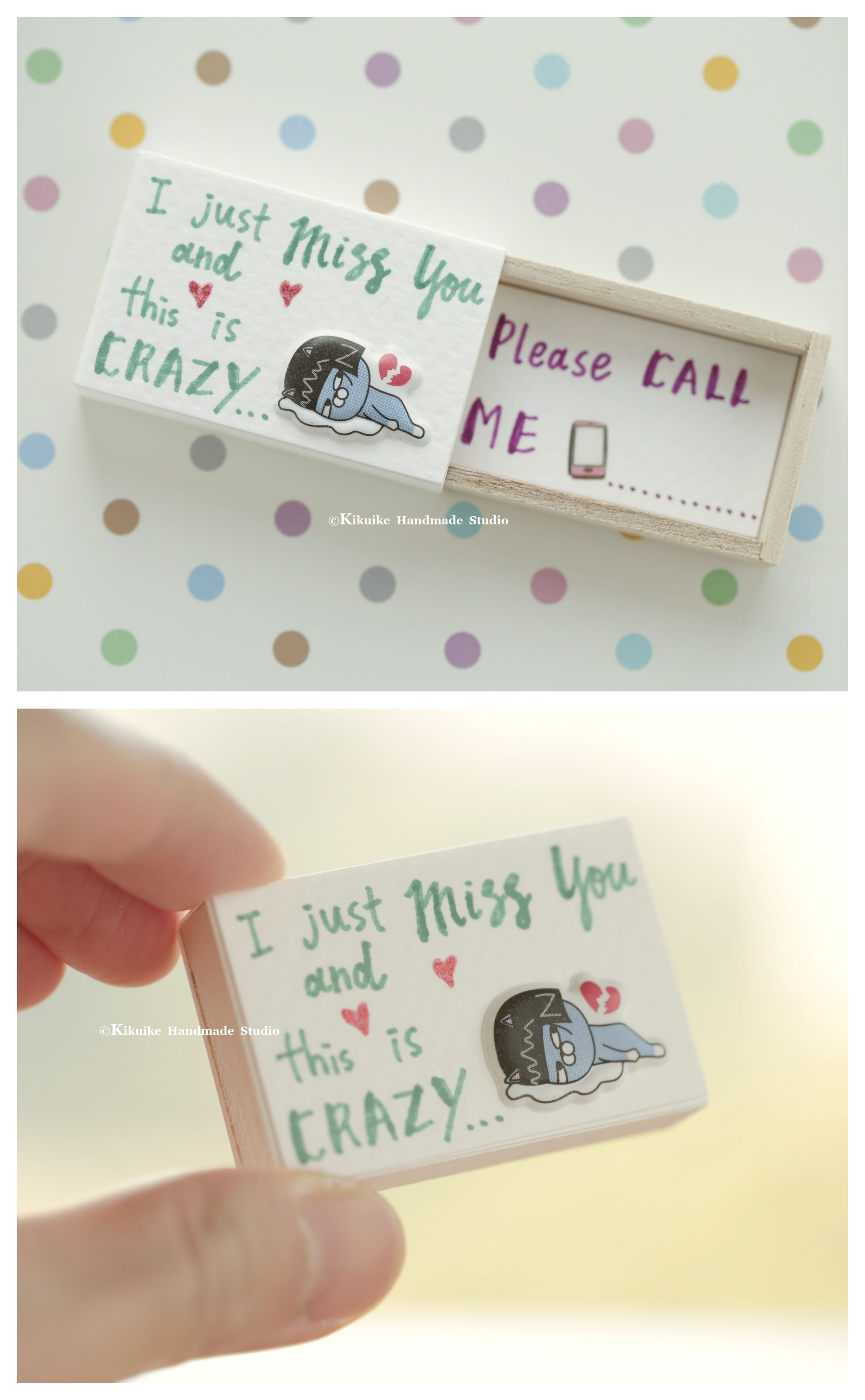 I m Missing You Matchbox card Valentine s Gift cheer up box