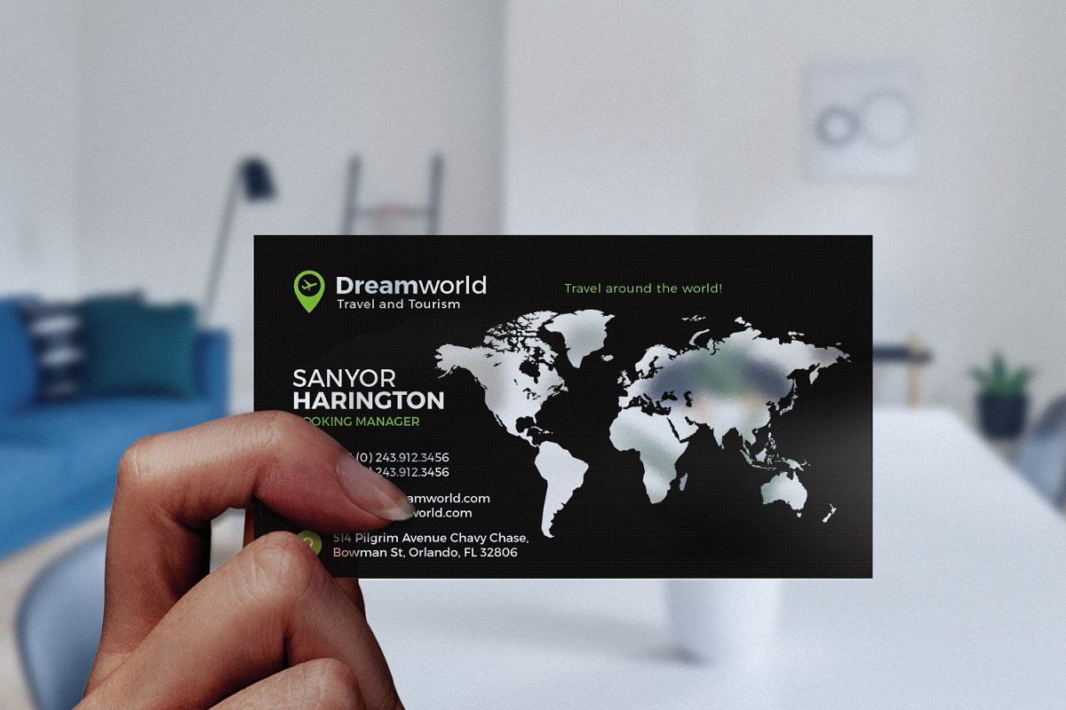 Tour And Travel Business Card Business Card Photoshop Transparent Business Cards Business Travel