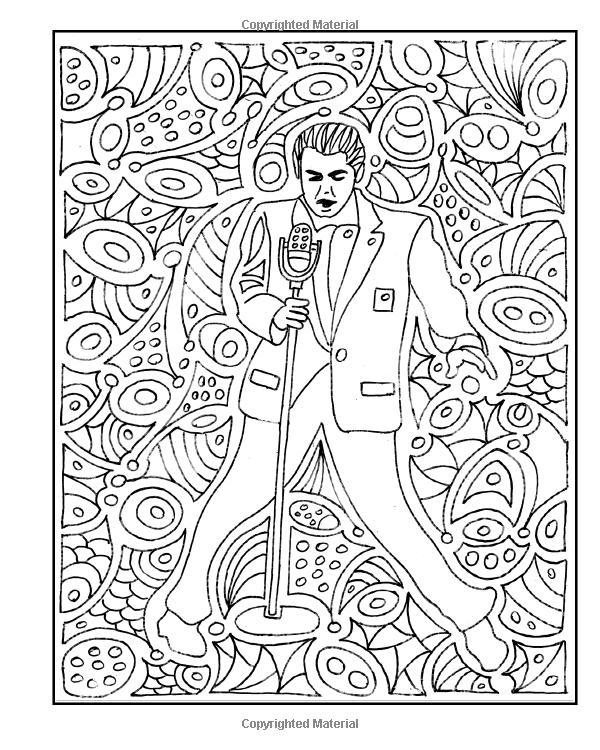 Amazon Com The Rock N Roll Coloring Book Volume 1 1950s To 1980s 9781517457488 Andrew G Szava Kovats Books Coloring Books Rock N Roll Rock N