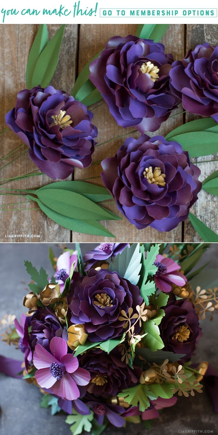 Frosted Paper Peony Flower Video Paper Flowers Pinterest