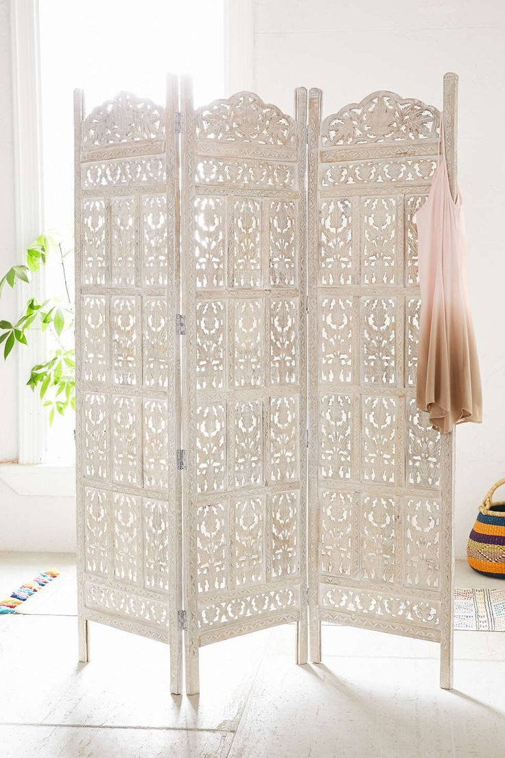 Amber Carved Wood Room Divider Screen Outdoor decor Living spaces