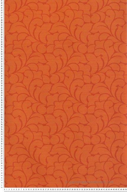 floral sevilla corail papier peint casad co wallpaper orange classical http www. Black Bedroom Furniture Sets. Home Design Ideas