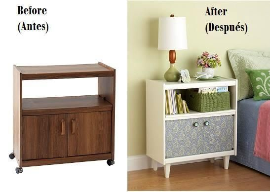 C mo reciclar muebles de melamina apunta restauraci n - Tunear muebles viejos ...