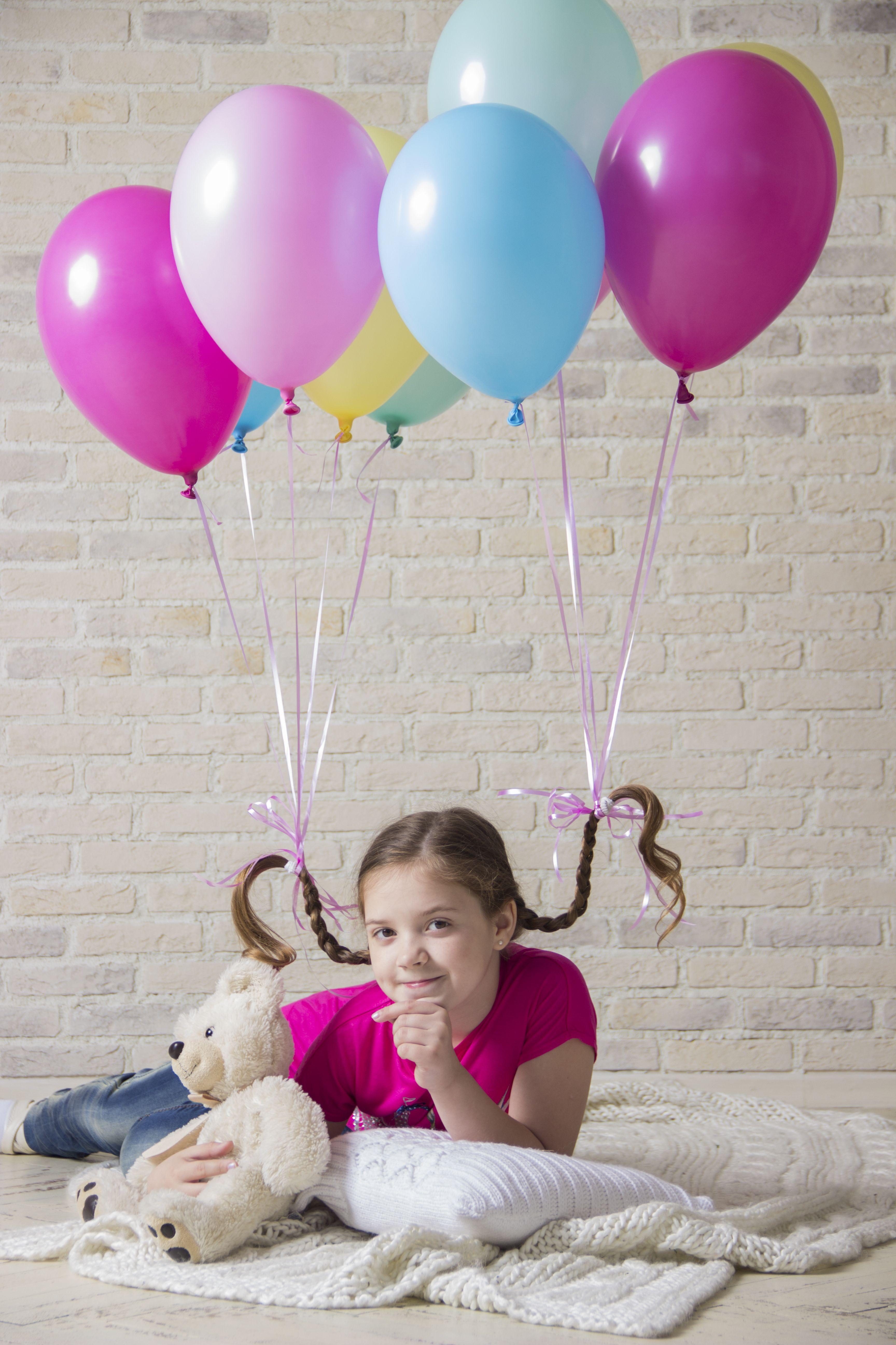 Фотосессия с шарами воздушными дома