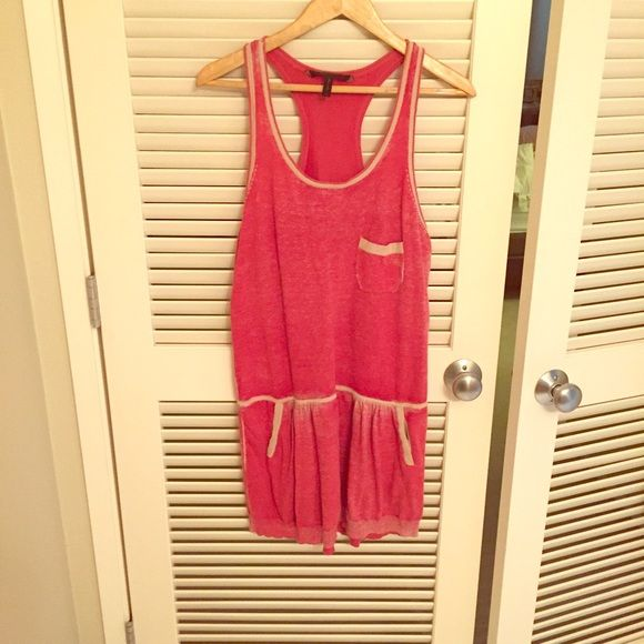 BCBG Red racerback mini Red cotton casual mini dress with racerback detail. Great addition in the closet to throw on and go! BCBG Dresses Mini