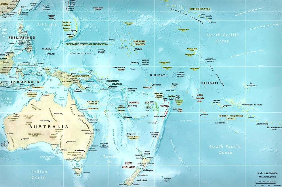 Physical Map of Micronesia - Ezilon Maps   Micronesia Map Range