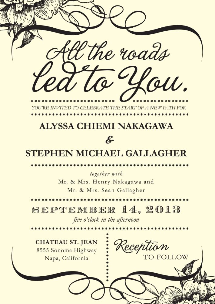 how to word wedding invitations when ceremony and reception are at - invitation word template