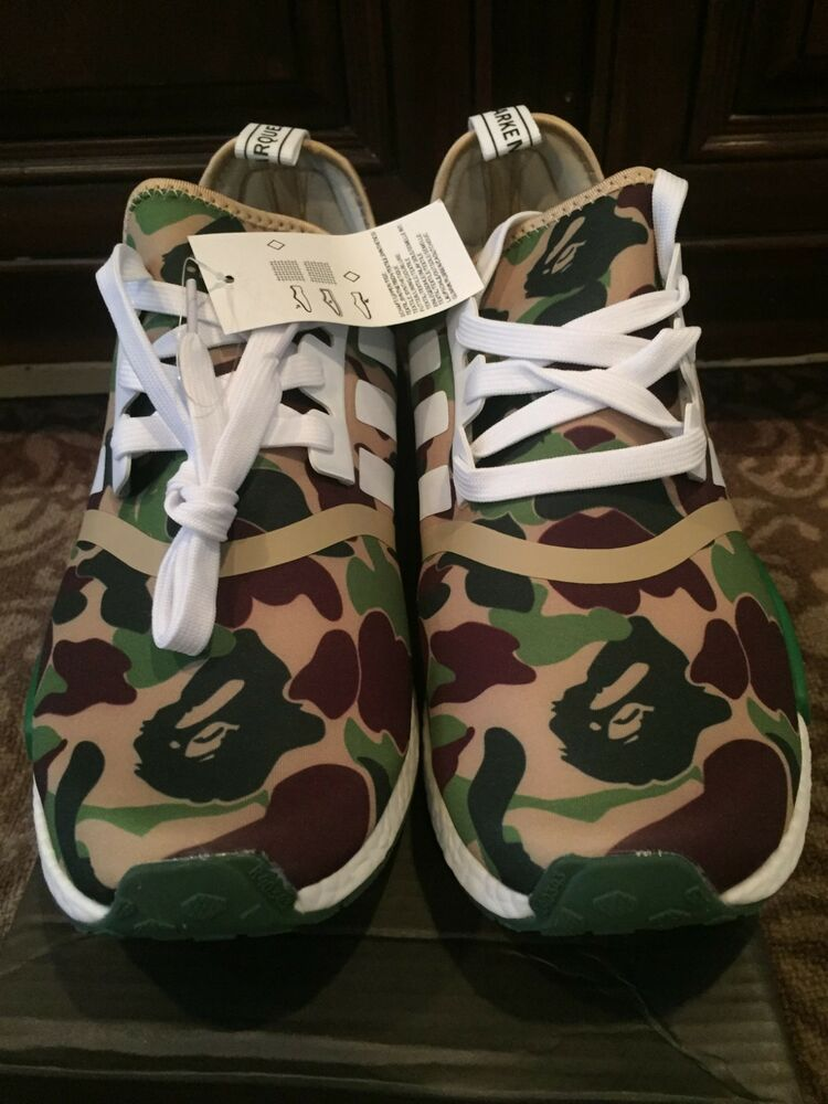 5cd061099 Adidas NMD R1 X Bape the bathing ape green bape men size 8.5  fashion   clothing  shoes  accessories  mensshoes  athleticshoes (ebay link)
