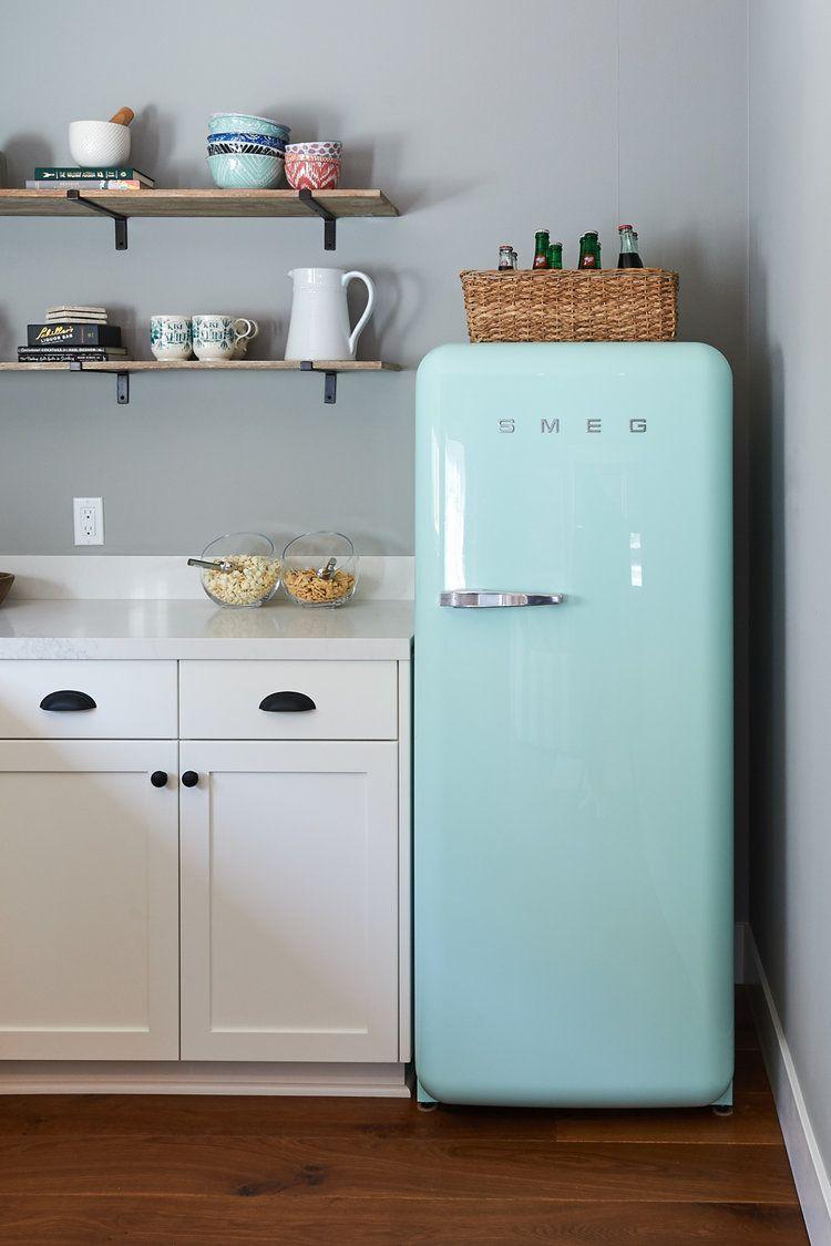Blue smeg mini fridge.   Bungalow 56 Projects   Pinterest   Mini ...