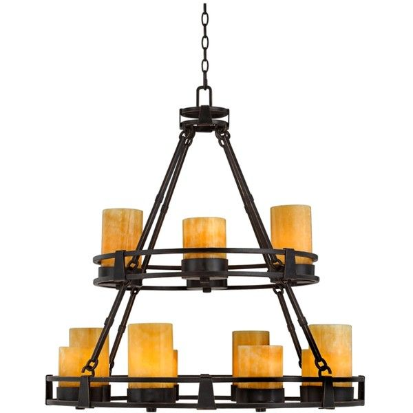Sunset Onyx Stone 12 Light Faux Candle Chandelier 800 Liked On Polyvore