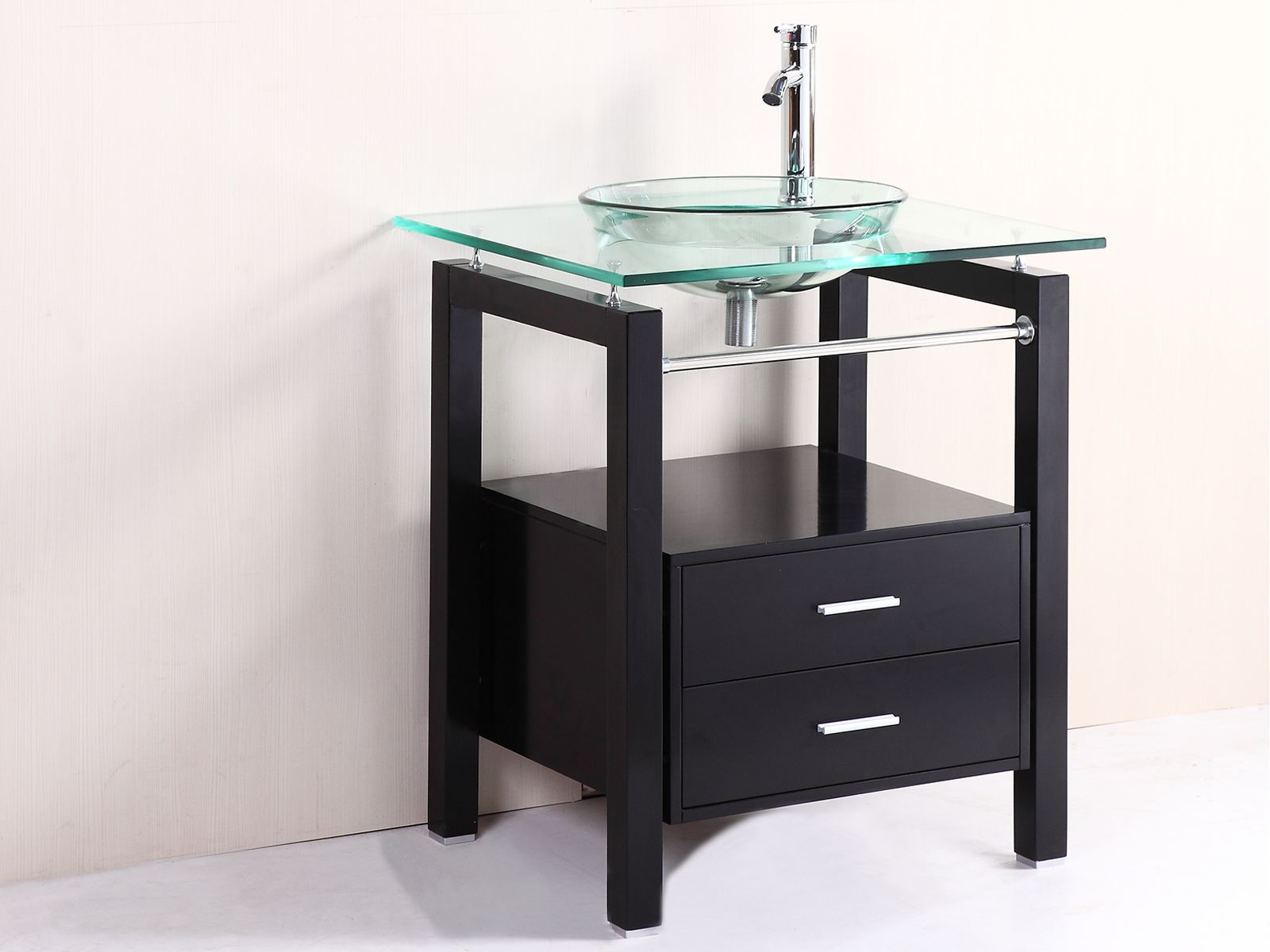 bathroom bowl sink cabinet modern 28 quot bathroom tempered clear glass vessel sink 15522