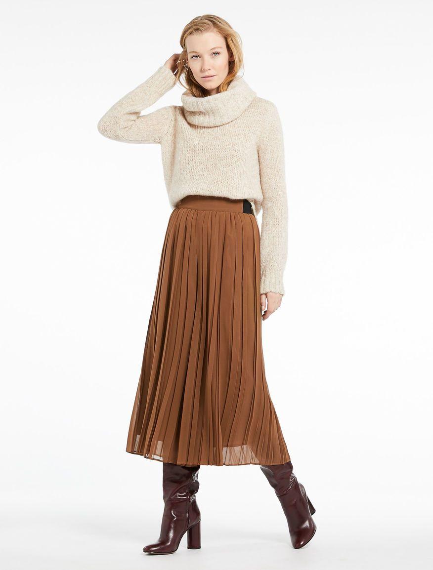 design innovativo 959a8 ea167 Gonna-pantalone plissé, tabacco - Marella | Abbigliamento
